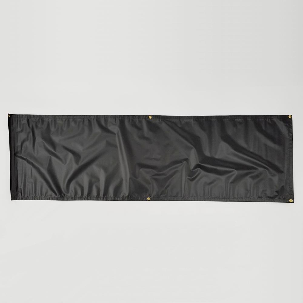 Premade Vinyl Banner Blank 10 Oz Black One Shot