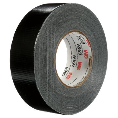 3M™ Extra Heavy Duty Duct Tape 6969, Black, 2